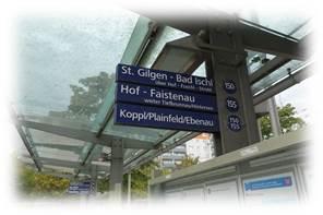 ザルツブルクバス停