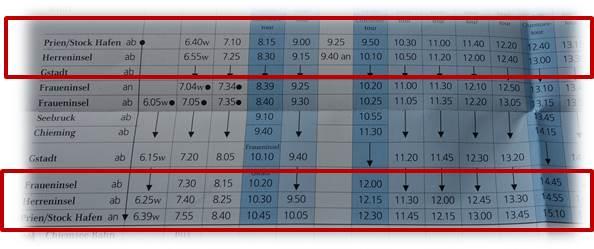 プリーン時刻表