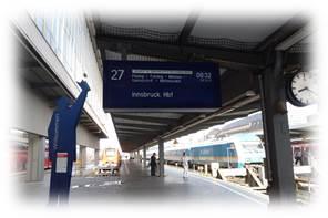 ミュンヘン駅27番ホーム