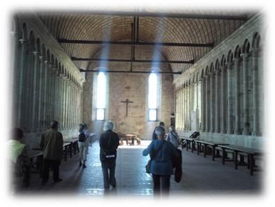 モンサンミッシェル修道院内