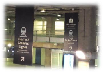 モンパルナス駅表示