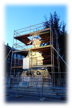 モーツァルトの像