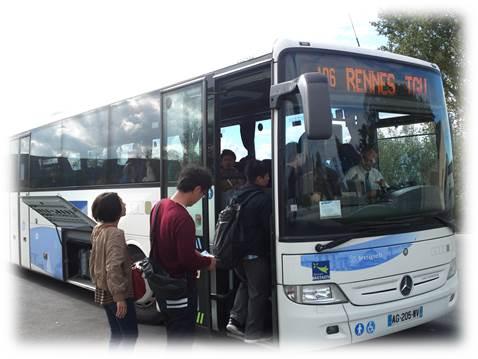 レンヌ駅行きバス