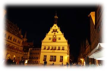 ローテンブルク旧市街夜景