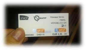 ヴェルサイユ切符