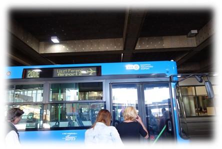 リストフェレンツ空港行きバス