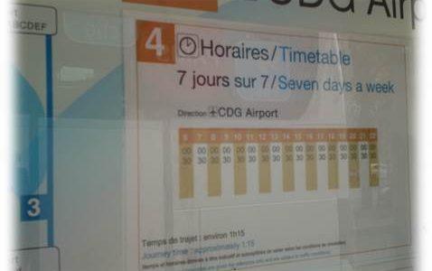 空港からエールフランスバスでパリ市内へ移動