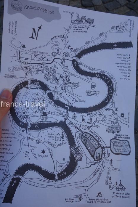 チェスキークルムロフ地図