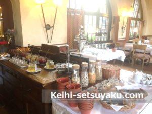 ヴァルトブルク城ホテル朝食
