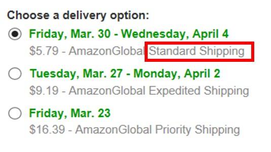 Amazon.com送料