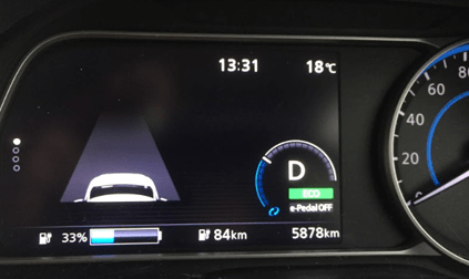 リーフ33%充電航続距離
