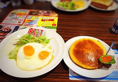 cafeガストモーニングパンケーキ