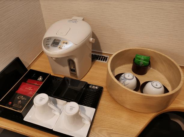 グランドプリンスホテル京都お茶小川コーヒー備品
