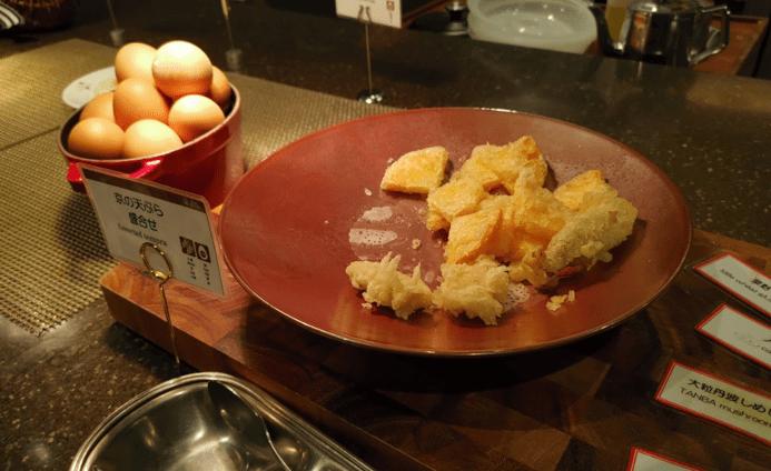 いと桜朝食天ぷら