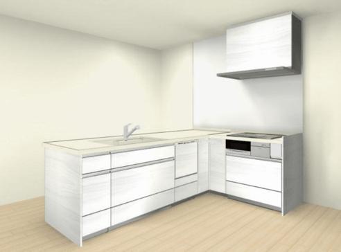 クリナップステディアL型キッチン