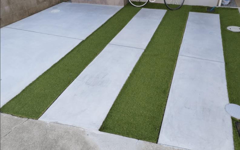 駐車場人工芝DIY