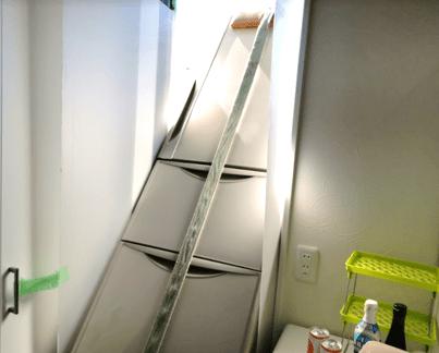 冷蔵庫2階リビング搬入