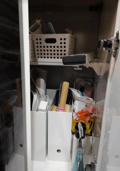 タカラスタンダードグランディアキッチンL字収納突っ張り棚口コミレビュー